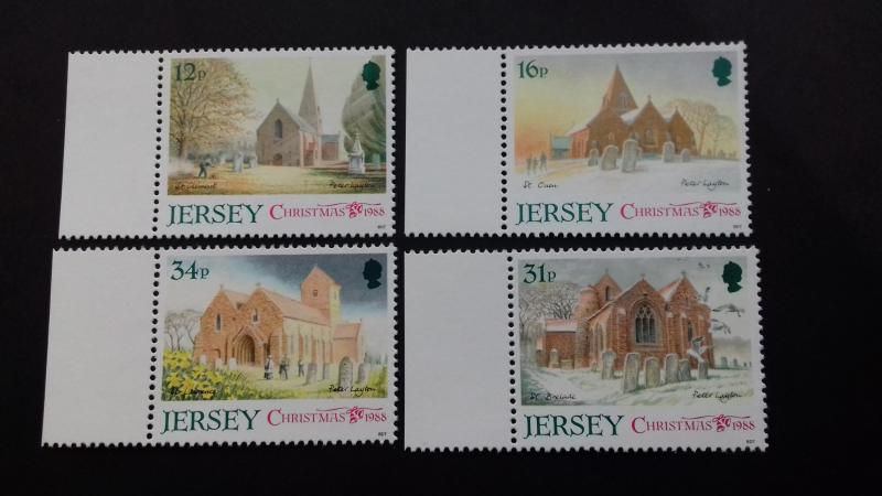 Jersey 1988 Christmas Stamps Mint