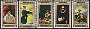 Yemen 241-241D, MNH, Paintings by Spanish Artists