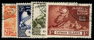 CAYMAN ISLANDS SG131-134, COMPLETE SET, FINE USED.