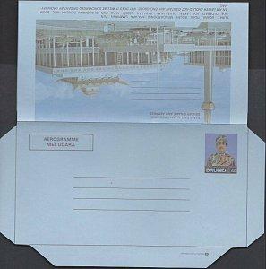 BRUNEI 35s Pictorial aerogramme unused.....................................K207a