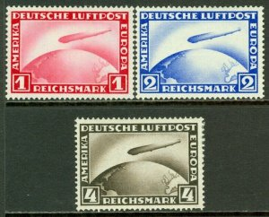 EDW1949SELL : GERMANY 1929-31 Scott #C35-37 Complete set. VF, Mint OG. Cat $90.