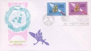 UN #234/235 DISARMAMENT DECADE - Overseas Mailer