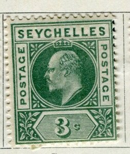 SEYCHELLES; 1903 early Ed VII issue fine Mint hinged 3c. value