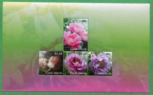 COOK ISLANDS #1362 MNH Souvenir Sheet - FLOWERS