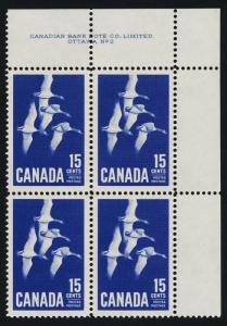 Canada 415 TR Block Plate 2 MNH Canada Goose, Birds