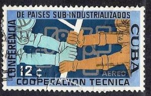 CUBA #C216, USED AIRMAIL FAULT  - 1961 - CUBA1096DTS13