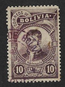 BOLIVIA Scott #50 Used 10c  Montegudo stamp 2022 CV $2.00
