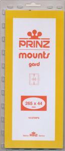 Prinz Scott Stamp Mount 44 x 265 BLACK Background Pack of 10