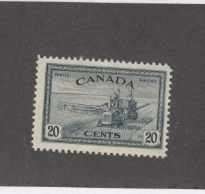 CANADA (MK692) # 271 VF-MNH  20cts COMBINE HARVESTING/SLATE BLACK CAT VALUE $11