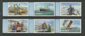 Alderney 2019 MNH Sinking of SS Stella 120 Years 6v Set Boats Ships Stamps