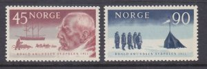 Norway 399-400 MNH 1961 Roald Amundsen South Pole Explorer Set VF