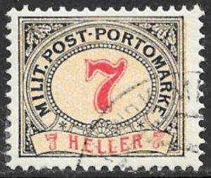 BOSNIA AND HERZEGOVINA 1904 7h Perf.12 1/2 x13 Postage Due Sc J7a VFU