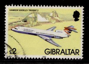 GIBRALTAR QEII SG471, 1982 £2 hawker sidley, FINE USED.