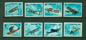 Rwanda #885-92 (1978 History of Flight  set) VFMNH CV $4.60