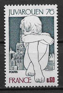 1976 France Sc1477 lnternational Youth Phllatelic Exhibiton, Rouen MNH