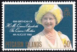 Pitcairn Islands # 193 mnh ~ 50¢ Queen Mother's 80th Birt...