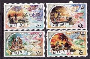 Kiribati-Sc#613-6-Unused NH set-Christmas-Angels-1993-please note that there is