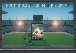 Bosnia, Croat. Scott cat. 124. European Soccer issue on a Max. Card. ^