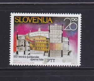 Slovenia 135 Set MNH Ljubljana Opera House