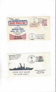 US Navy Covers USS Glover AGDE 1