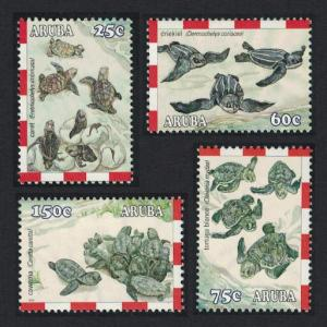Aruba Endangered Species Turtles 4v SG#327-330