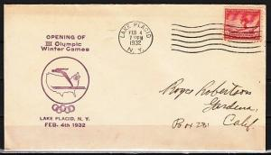 United States, Scott cat. 716. Lake Placid Olympics issue. First day covers. ^