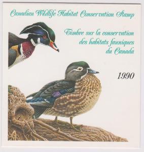 Canada - 1990 Wildlife Habitat Conservation Booklet  USC#FWH6 Cat.$30