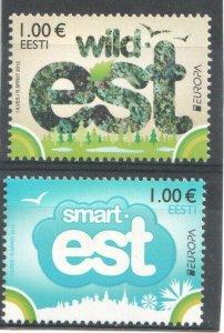 2012   ESTONIA - SG:682/3 - EUROPA  -  VISIT ESTONIA -  MNH