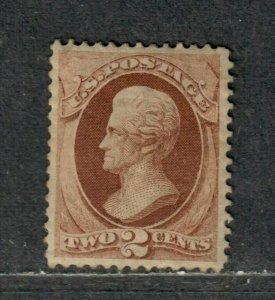 US Sc#146 M/H/EF, RG Or Glazed O.G., Cv. $135