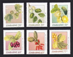 Zimbabwe Wild Fruits 1st series SG#810-815 SC#642-647