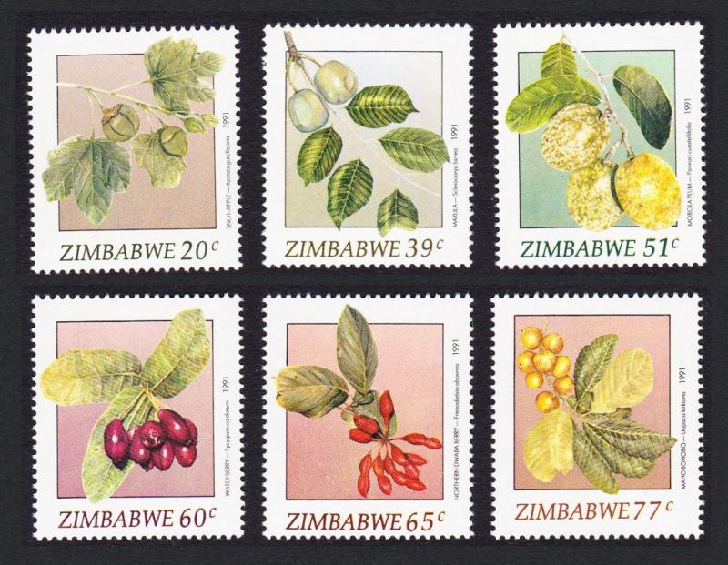 Zimbabwe Wild Fruits 1st series SG#810-815 SC#642-647