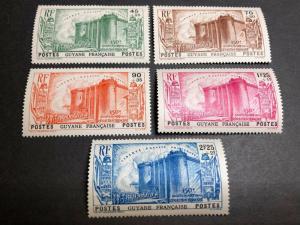 French Guiana Scott B4-8 Mint OG CV $57.50