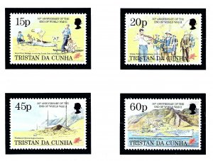 Tristan da Cunha 562-65 MNH 1995 End of WWII Anniversary