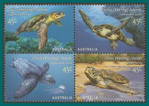 Cocos 2002 Turtles, MNH 336,SG393a