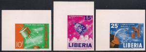 Liberia 415-417 MNH Imperf - Space