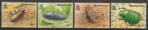 Montserrat SG 927 - 930 set of 4  MVLH -  Beetles