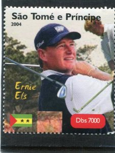 Sao Tome & principe 2004 GOLF Ernie Els South African 1v Perforated Mint (NH)