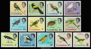 Gambia Scott 175-187 Mint never hinged.