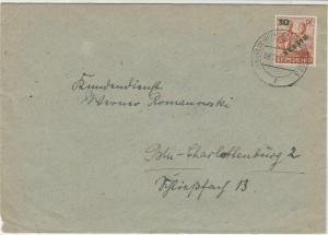 Germany 1949 Berlin Overprint Berlin Reinickendorf Cancel Stamps Cover Ref 24115