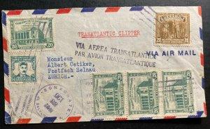 1946 El Salvador Airmail Trans Atlantic Clipper Cover To Zurich Switzerland
