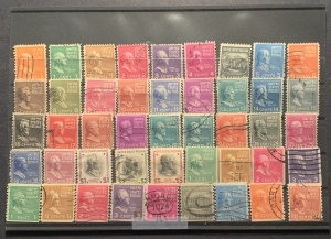 Scott 803-834 & 839-851 Used Set Of 45 Stamps.