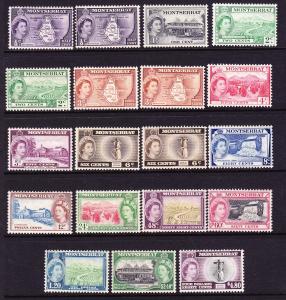 MONTSERRAT  1953-62  QEII  PICTORIALS  PART SET 19  MH  SG 136a/149a
