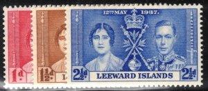 Leeward islands Scott #100-02 MLH Complete Set