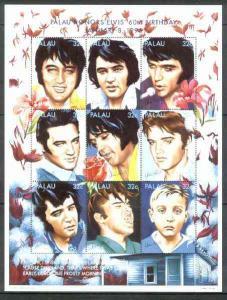 Palau 1995 60th Birth Anniversary of Elvis Presley unmoun...