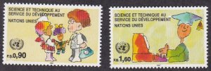 United Nations - Geneva # 222-223, Science & Technology, NH, 1/2 Cat.