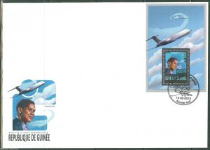 GUINEA 2013 DENZEL WASHINGTON IN FLIGHT SOUVENIR  SHEET FIRST DAY COVER