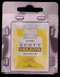 Scott/Prinz US Regular Issue Horizontal Stamp Mounts Size: 25x22 Clear #903 C