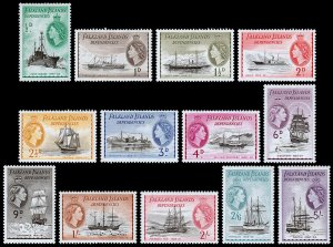 Falkland Islands Dependencies Scott 1L19-1L31 (1954) Mint LH VF M