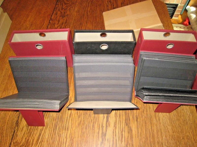 HAWID STAMP COLLECTORS STOCK CARD FILES - LOT OF 3