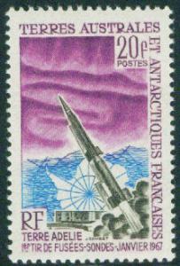FSAT TAAF Scott 29 MNH** 1966 Aurora Australis Dragon Rocket stamp